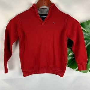 Tommy Hilfiger   Red Toddler pullover Knit Sweate